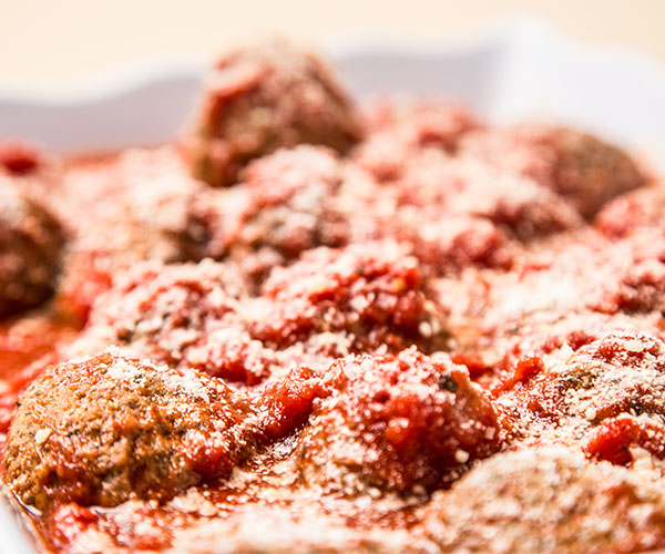 Meatballs in Marinara Sauce